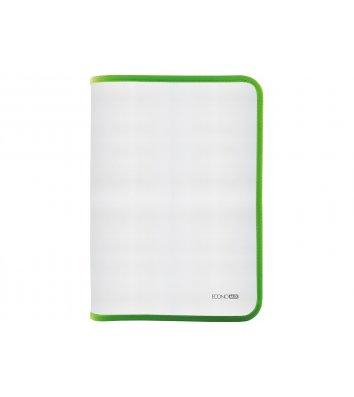 Папка B5 пластиковая прозрачная с зеленой молнией, Economix