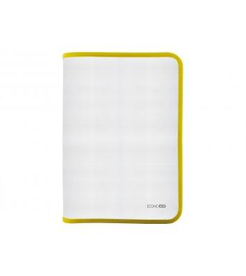 Папка B5 пластиковая прозрачная с желтой молнией, Economix