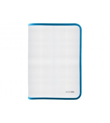 Папка B5 пластиковая прозрачная с голубой молнией, Economix