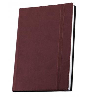 Деловая записная книжка А6 Vivella на резинке бордовая, Optima