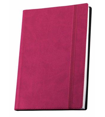 Діловий записник А6 Vivella на гумці рожевий, Optima