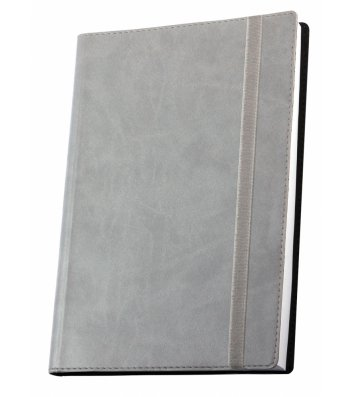 Деловая записная книжка А6 Vivella на резинке серая, Optima