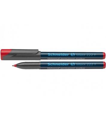 Маркер перманентний Maxx 222 F, колір чорнил червоний 0,7мм, Schneider