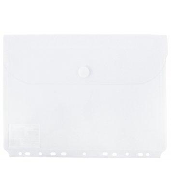 Папка-конверт А4 на липучці пластикова прозора з бічною горизонтальною перфорацією, Economix