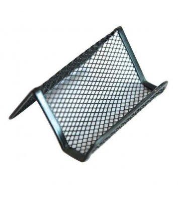 Підставка для візиток металева чорна, Optima