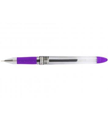 Ручка гелева Office, колір чорнил фіолетовий 0.5мм, Optima