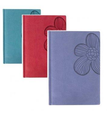 """Щоденник напівдатований А5 Vivella """"Квітка""""бірюзовий, Optima"""