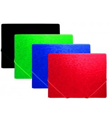 Папка А4 пластикова на гумках Pixelz асорті, Optima