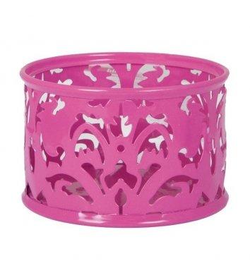 Підставка для скріпок Barocco металева рожева, Buromax