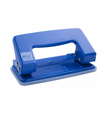 Діркопробивач  10арк корпус металевий колір синій, Buromax
