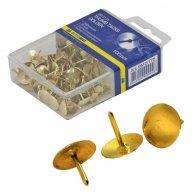 Кнопки золотисті 100шт, Buromax