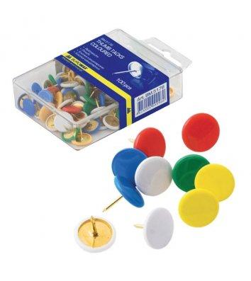 Кнопки кольорові 100шт, Buromax