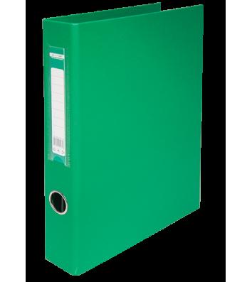 Папка-регистратор А4 40мм 4D-кольца односторонняя зеленая, Buromax