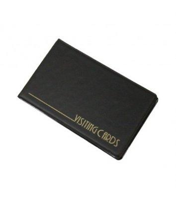 Визитница на 24 визиток PVC черная, Panta Plast