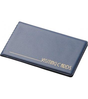 Визитница на 24 визиток PVC синяя, Panta Plast