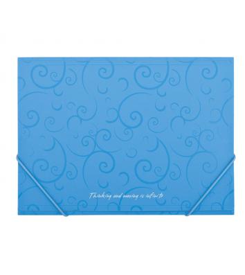 Папка А5 пластикова на гумках Barocco блакитна, Buromax