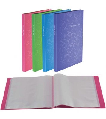 Папка А4 пластикова з 20 файлами Barocco рожева, Buromax