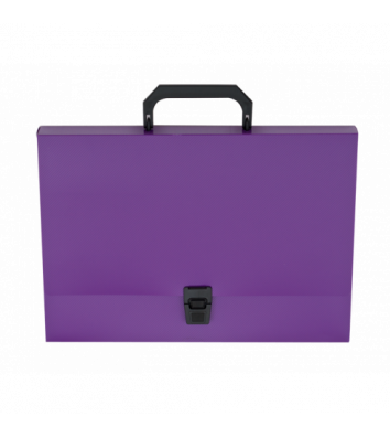 Портфель А4 пластиковый 1 отделение Glosso фиолетовый, Buromax