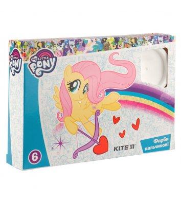 """Фарби пальчикові 6 кольорів 35мл """"My Little Pony"""", Kite"""