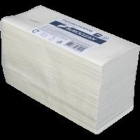 Полотенца бумажные двухслойные 200шт Z-сложения целлюлозные белые, Buroclean