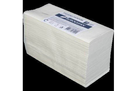 Рушники паперові двошарові 200шт Z-складання  целюлозні білі, Buroclean