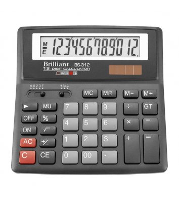 Калькулятор 12 разрядов 156*157*34мм, Brilliant