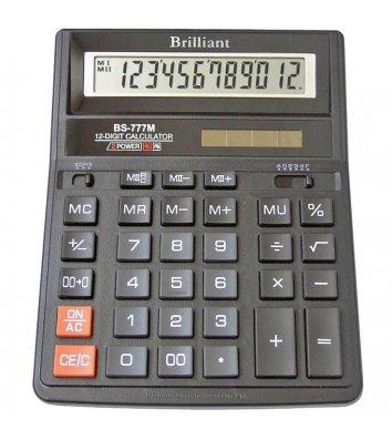 Калькулятор 12 розрядів 157*200*31мм, Brilliant