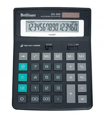 Калькулятор 16 разрядов 155*202*35мм, Brilliant