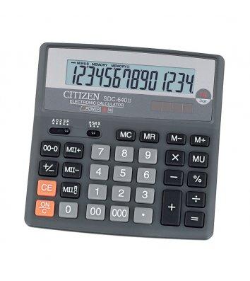 Калькулятор 14 розрядів 156*156*31мм, Citizen