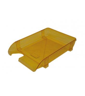 Лоток горизонтальний пластиковий лимонний прозорий, Arnika