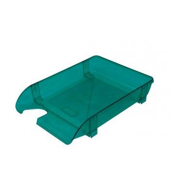 Лоток горизонтальный пластиковый зеленый прозрачный, Arnika
