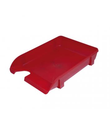 Лоток горизонтальний пластиковий червоний непрозорий, Arnika
