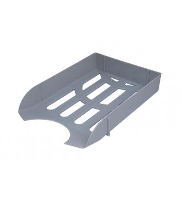 Лоток горизонтальний пластиковий сірий непрозорий, Arnika