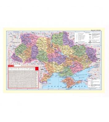 Настольное покрытие 590*415мм карта Украины, Panta Plast