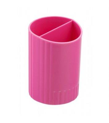 Подставка канцелярская пластиковая розовая, Zibi