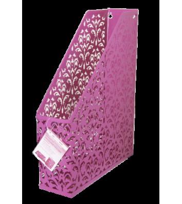 Лоток вертикальний металевий рожевий, Buromax