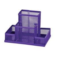 Підставка канцелярська металева фіолетова, Zibi