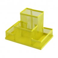 Підставка канцелярська металева жовта, Zibi