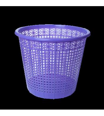 Корзина для сміття пластикова фіолетова 8л, Zibi