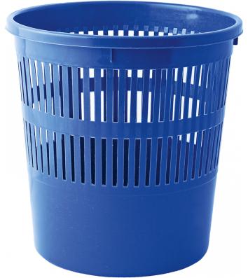 Корзина для сміття пластикова синя 10л, Buromax