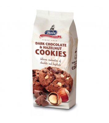 """Печиво Merba """"Nougatelli"""" з шоколадом та горіхами 200г"""