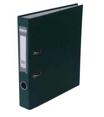 Папка-реєстратор А4 50мм одностороння темно-зелена Lux, Buromax