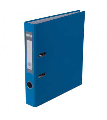 Папка-реєстратор А4 50мм одностороння світло-синя Lux, Buromax