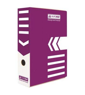 Бокс архівний  80мм фіолетовий, Buromax
