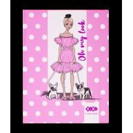 """Блокнот А5 64арк клітинка """"Fashion"""", Zibi"""