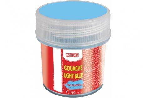 Краска гуашевая 40мл голубая, Maxi