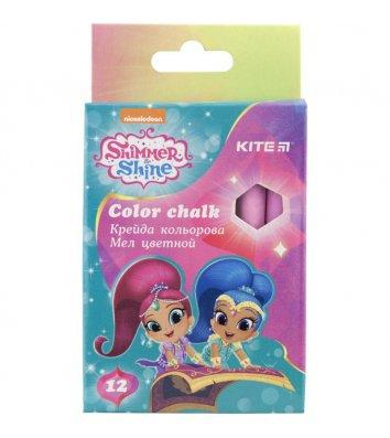 "Крейда кольорова 12шт ""Shimmer and Shine"", Kite"