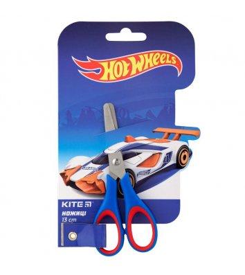 """Ножиці дитячі 13см ручки з гумовими вставками """"Hot Wheels"""", Kite"""