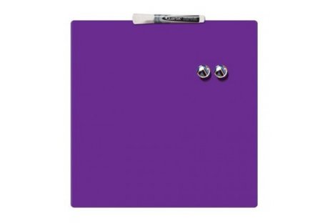 Дошка магнітно-маркерна  36*36см, фіолетова Quartet, Nobo
