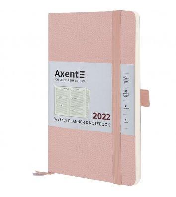 Щотижневик датований 2022 Partner Soft Skin 125*195мм пудровий, Axent